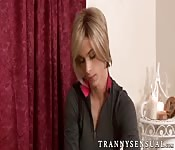 Big tits MILF gets fucked by tranny