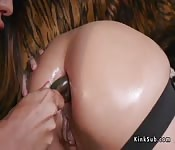 Huge tits lesbian soldiers anal fucking