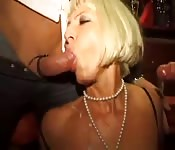 Hungry milfs getting wild together at the orgy