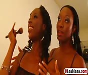 Imani and Dariel lick each other cunts