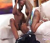 Ebony goddess gets fucked