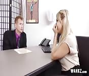 Cute Blonde Secretary Fucks Her Boss!