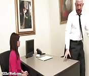 Cute Secretary Fucks Her Boss!