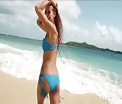 Posing on the beach