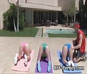 Yoga chicks sharing instructors dick