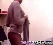 Slim naughty ebony double penetrated