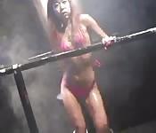 Danseuse Asiatique en scène