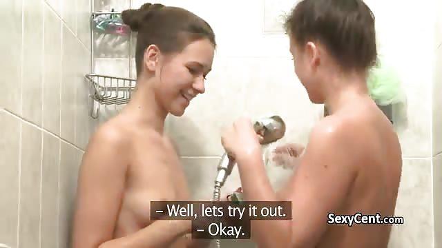 Lesbian Sex In A Bathroom