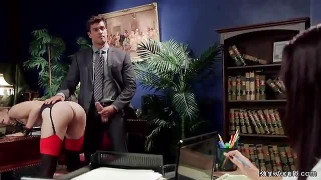 Boss fucks wife porn Boss Fucks Wife In Front Of Secretary Pornburst Xxx