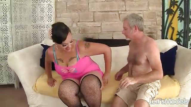 Czech Blonde Fucks Old Man