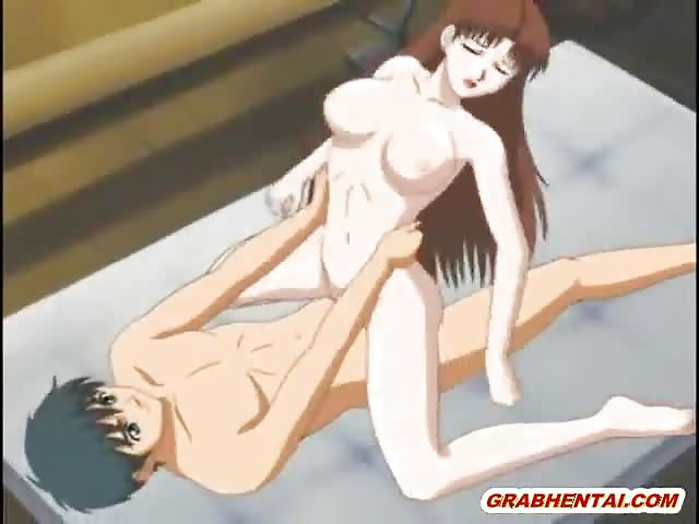 image Hentai coed tittyfucking and licking a stiff