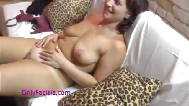 Flexible milf gets splashed after wild blowjob