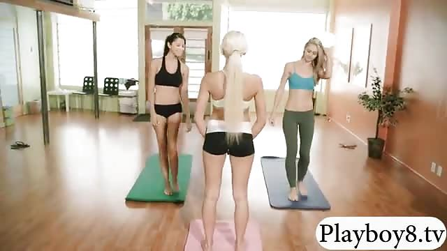 Fit dykes end their yoga session with a round of strapon fucking  1763286